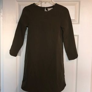 H&M Olive green 3/4 sleeve dress